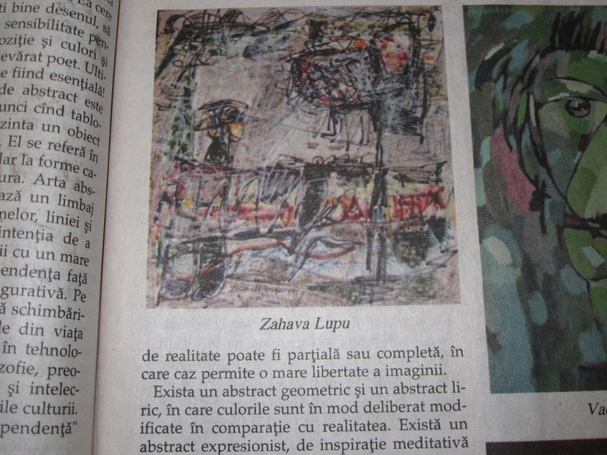 Despre pictorita Zahava Lupu – Dr. Dorel Schor