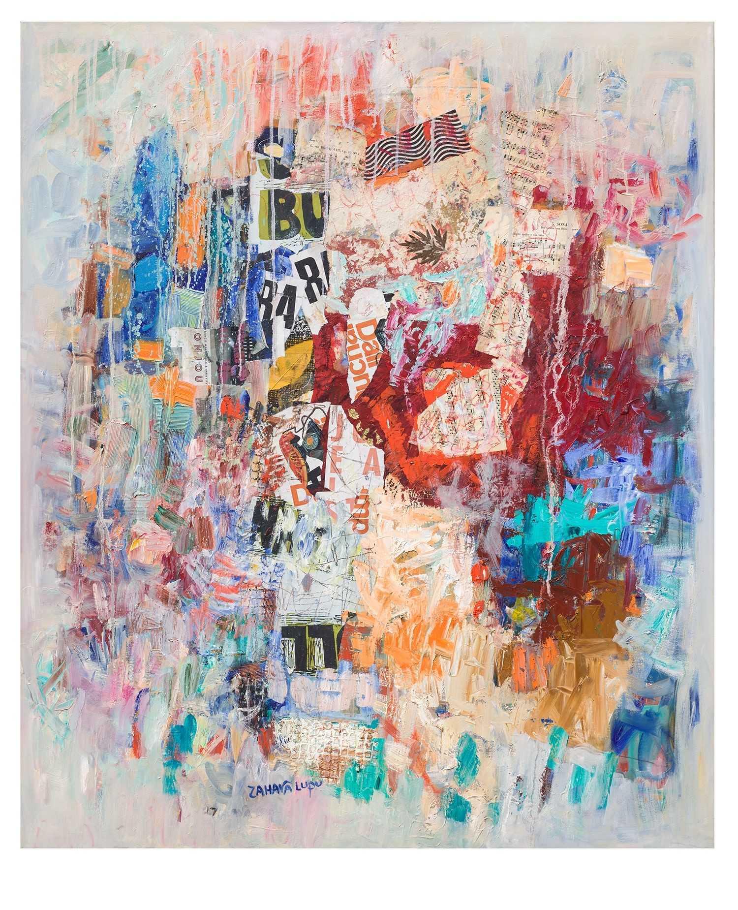 Touching not touching abstract art