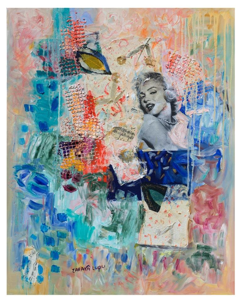 Marilyn Monroe abstract artwork