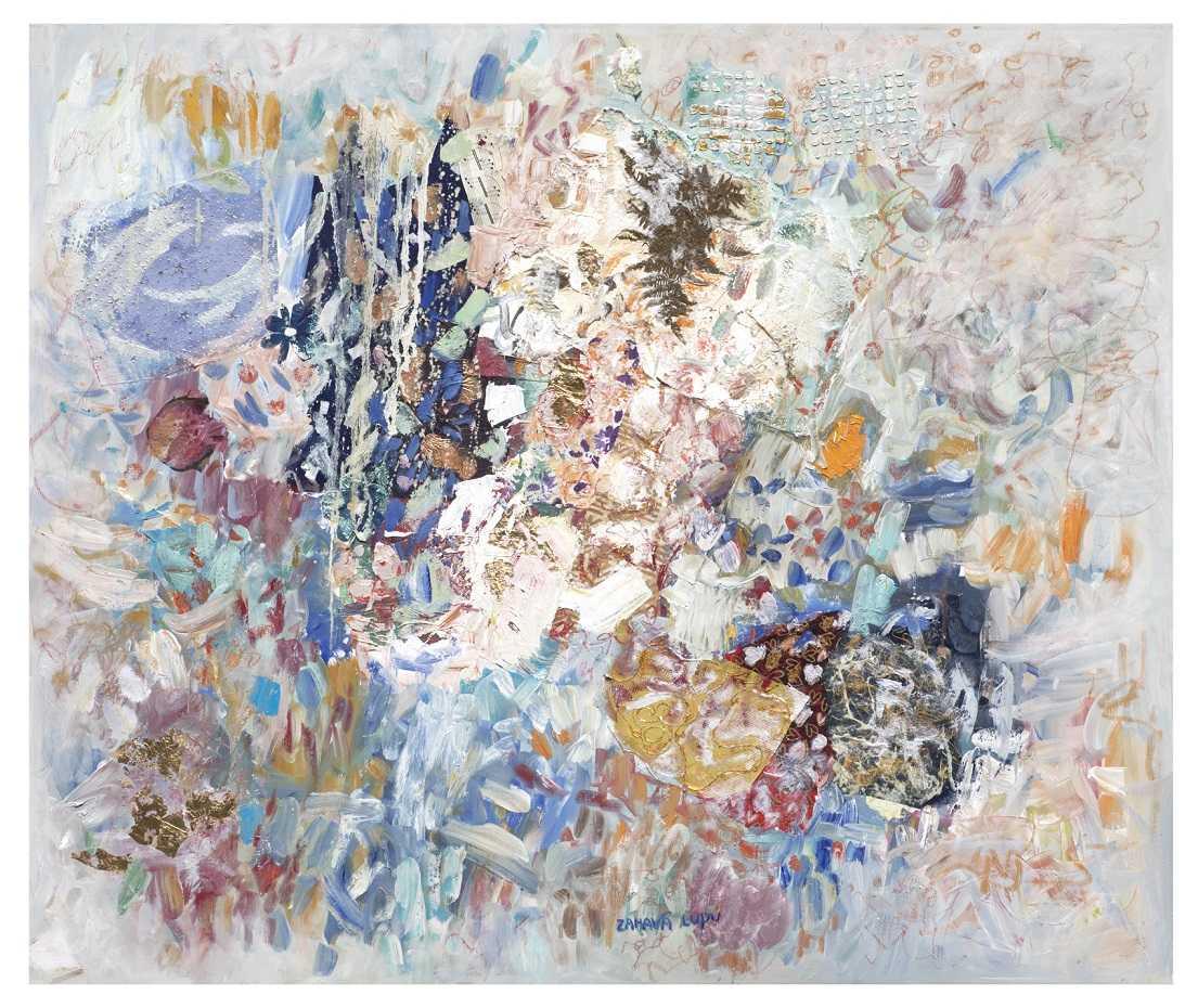 Composition in Blue palette