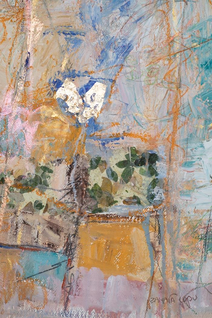 Artwork detail - oil on paper 2021